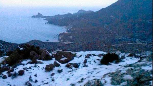 Nieve en el Parque Natural Cabo de Gata